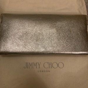JIMMY CHOO silver clutch